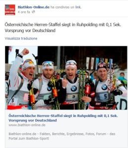 La notizia su Biathlononline.de