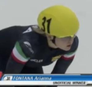 Domani Arianna Fontana competerà per una medaglia nei 500 metri di Short Track