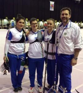 Le ragazze dell'Arco olimpico (Foto:Fitarco)