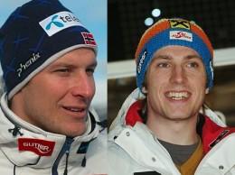Aksel Lund Svindal e Marcel Hirscher (Foto:Wikipedia)