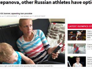 La Stepanova sui media canadesi (foto tratta da cbc.ca)