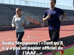La Stepanova sul sito dell'Equipe (www.equipe.fr)