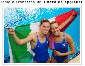 Tania Cagnotto con Francesca Dallapé sul sito ufficiale di Tania www.taniacagnottoweb.net)