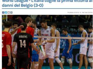 Ecco il commento alla vittoria sul Belgio dal sito federvolley.it