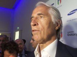 Gianni Malagò, numero uno del Coni, alla presentazione del Samsung Galaxy Team (Andrea Eusebio/alaNEWS)