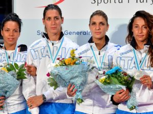 Torun, 24 june 2016  European  Fencing Championships  V day in photo: VOLPI Alice, DI FRANCISCA Elisa, ERRIGO Arianna e BATINi Martina  Photo Augusto Bizzi