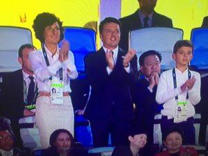 Uno screenshot della diretta Rai che ritrae il presidente Renzi (fonte Rai)