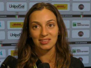 La Fiamingo alle interviste ieri a Casa Italia (foto alanews)