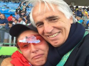 Ecco la Bacosi con Malagò sulle colonne del sito www.rio2016.coni,it
