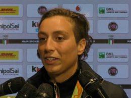 Rachele Bruni alle interviste (alanews)